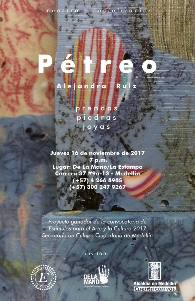 Petreo, Alejandra Ruiz, Beca de creación, Medellín, De La Mano, Joyería, Joyería Contemporánea, convocatoria, estímulos, Alcaldía de Medellín, Artesanía