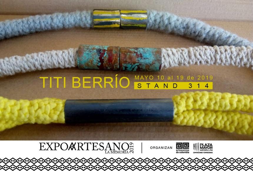 Titi Berrío en Expoartesano 2019